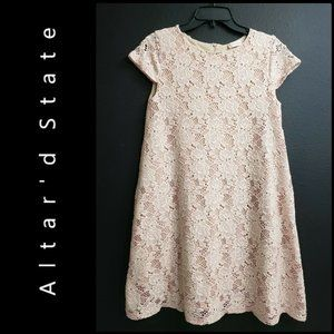 Altar'd State Women Trapeze Lace Short Dress XS